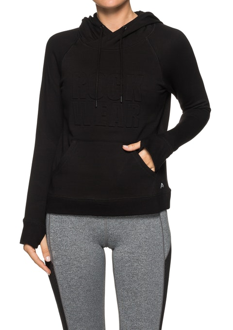 Black Supersoft Kangaroo Pocket Hoodie