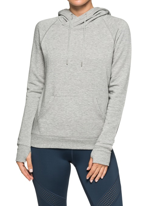 Mid Grey Marle Supersoft Kangaroo Pocket Hoodie