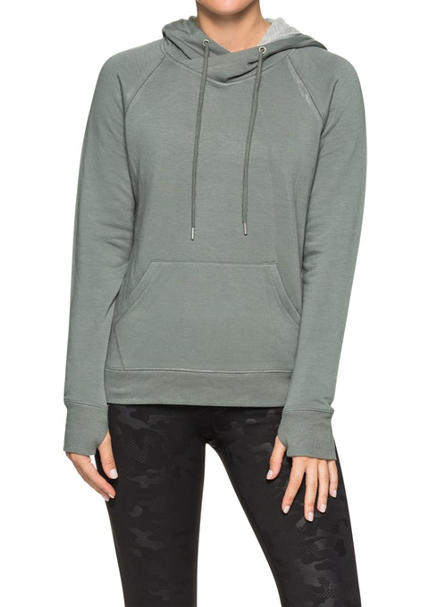 Sage Supersoft Kangaroo Pocket Hoodie