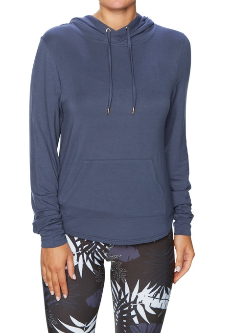 Blue Smoke Sm Luxesoft Back Detail Hoodie