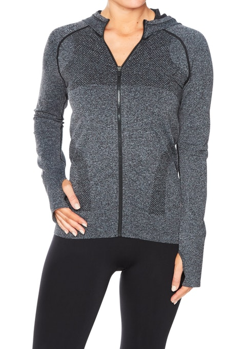 Charcoal Sl Seamless Hooded Jacket