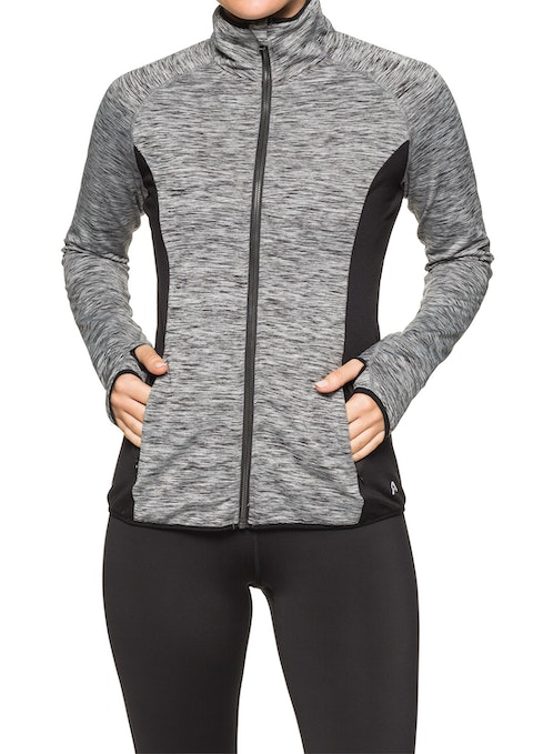 Charcoal Marle Rockwear Winter Fleece Jacket