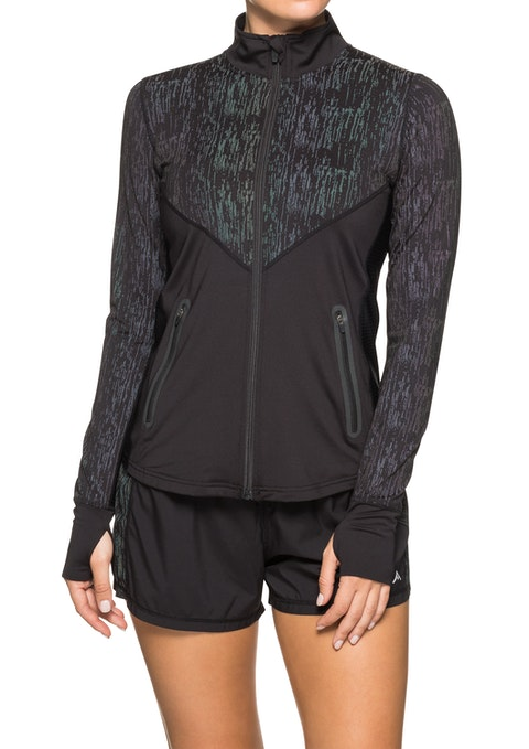 Black Reflective Running Jacket
