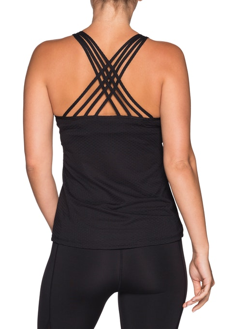 Black Eternity Crossover Strap Singlet
