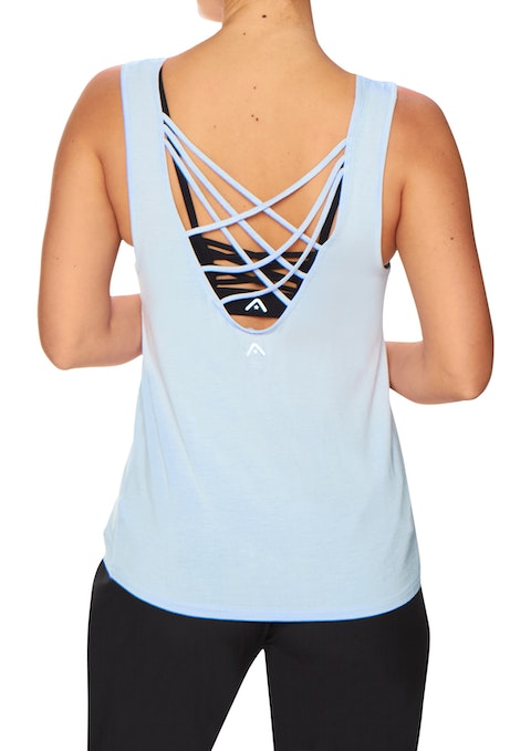 Breeze Sm Mesh Panel Strappy Back Tank