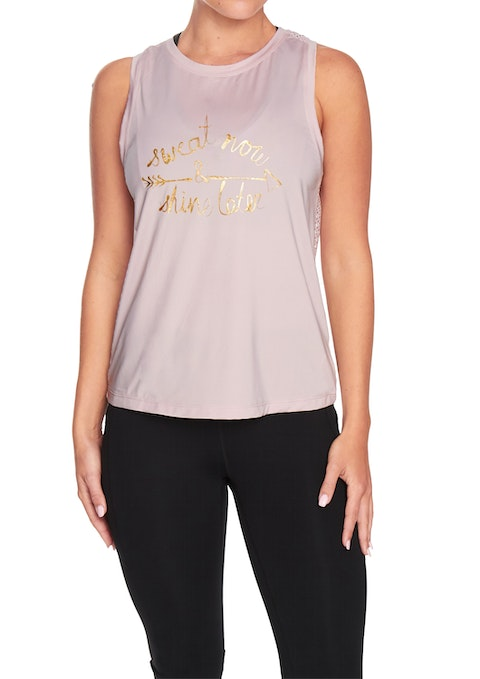 Pink Clay Unite Front Print Active Tank