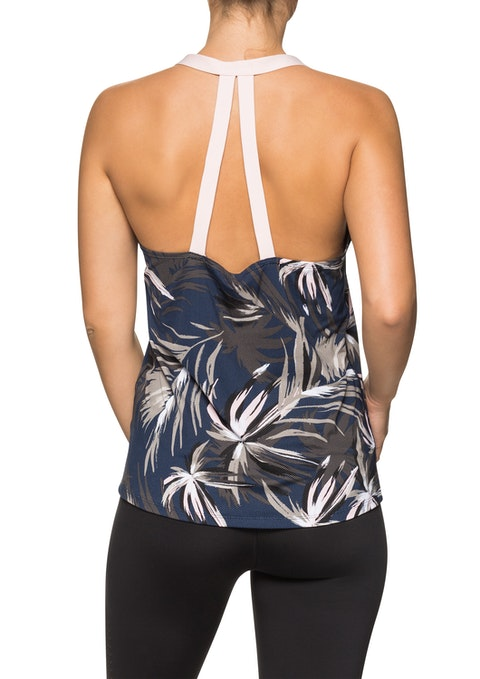 Winter Palm Wp Printed Double Strap Singlet