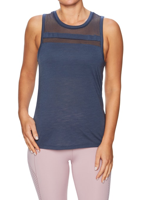 Steel Blue Ambition Mesh Panel Tank