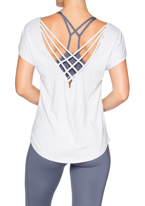 Light Grey Marle Venus Strappy Back Tee