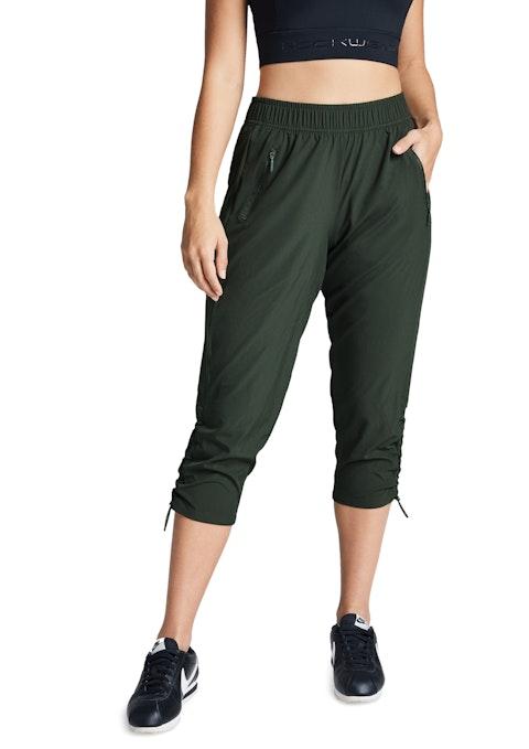 Khaki 3/4 Dryfit Rouched Pant