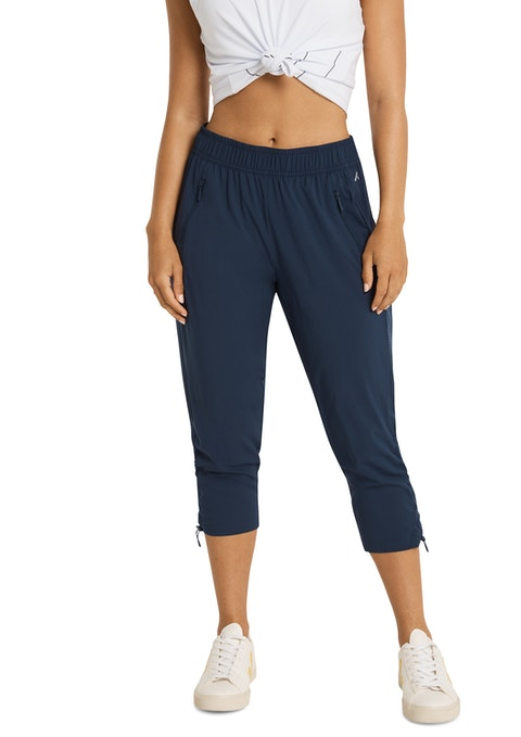 Navy 3/4 Dryfit Rouched Pant