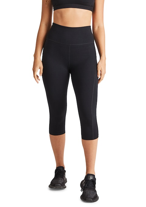 Black Ls 3/4 Luxesoft Ultra High Rise Tight