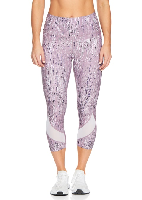 Mauve Rain Essentials 7/8 Print Luxesoft Tight