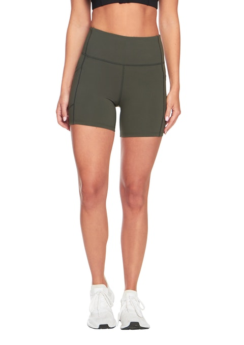 Khaki In7 Mid Thigh Pocket Tight