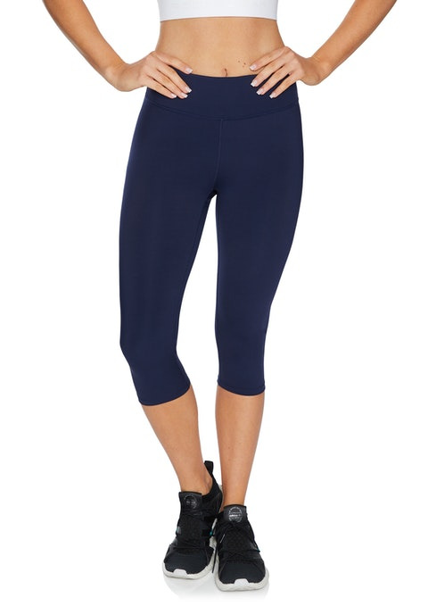 French Navy High Rise Rockwear Logo 3/4 Tights
