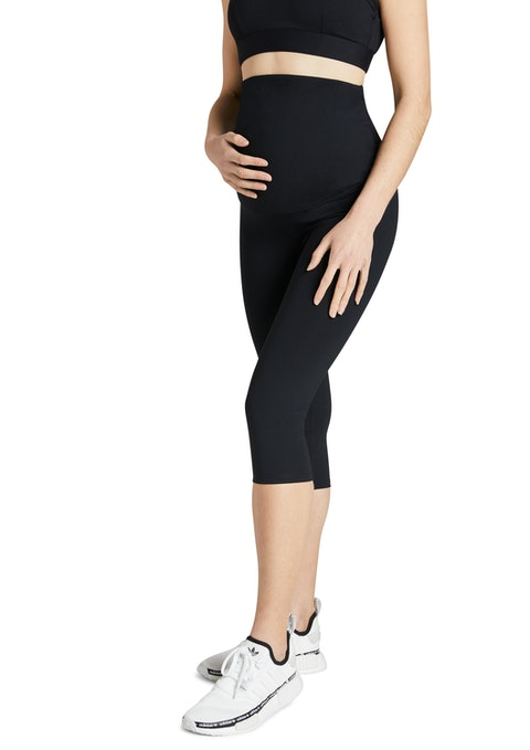 Black Maternity Ultra High 3/4 Tights