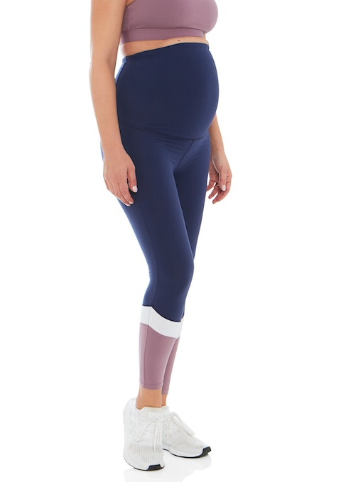 Ink Maternity Colour Block Full Length Tights