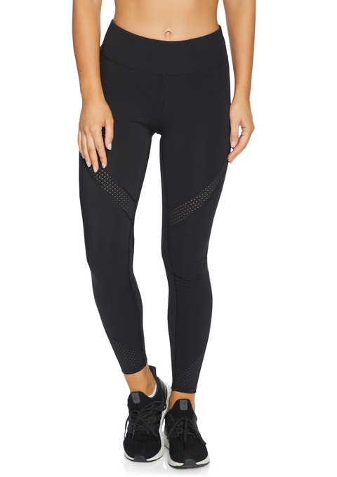 Black Noosa Fl Perforated Logo Tight