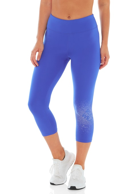 Hyper Blue 7/8 Speckle Logo Tight