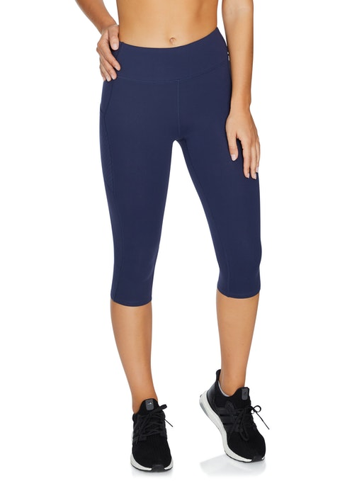 French Navy Perforated Pocket 3/4 Tights