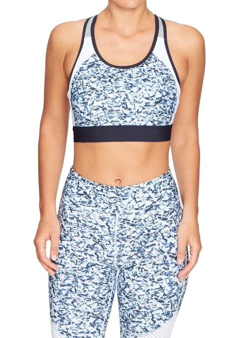 Pacific Pacific High Impact Olympic Print Sports Bra