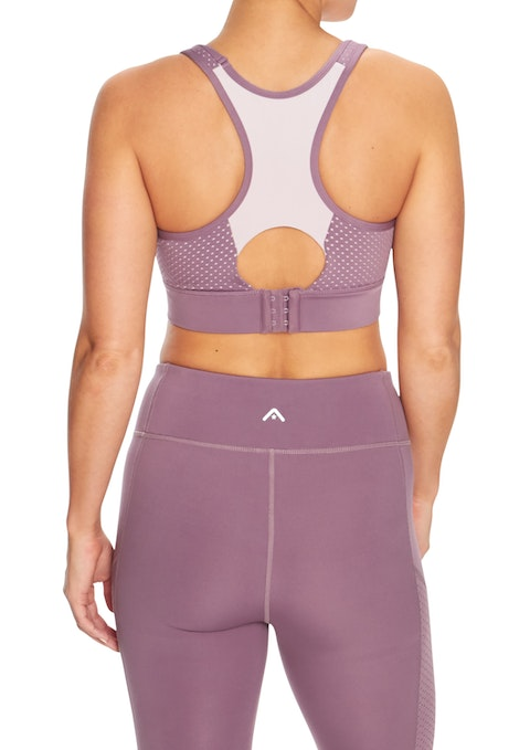 Mauve Essentials Hi Perforated Bra