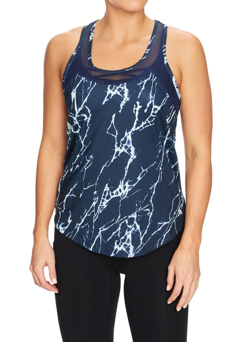 Shattered Compete Printed Mesh Singlet