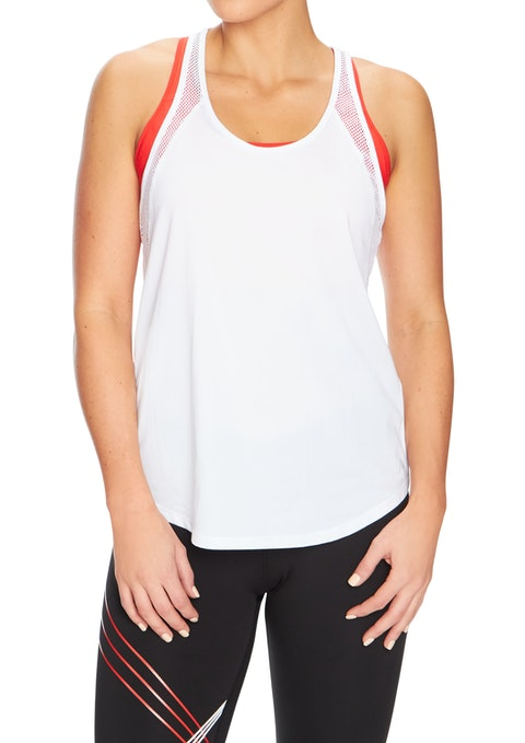 White Rapid Mesh Panel Active Singlet