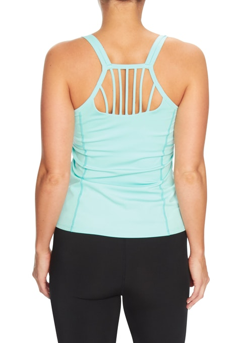 Spearmint Oasis Strappy Back Support Singlet