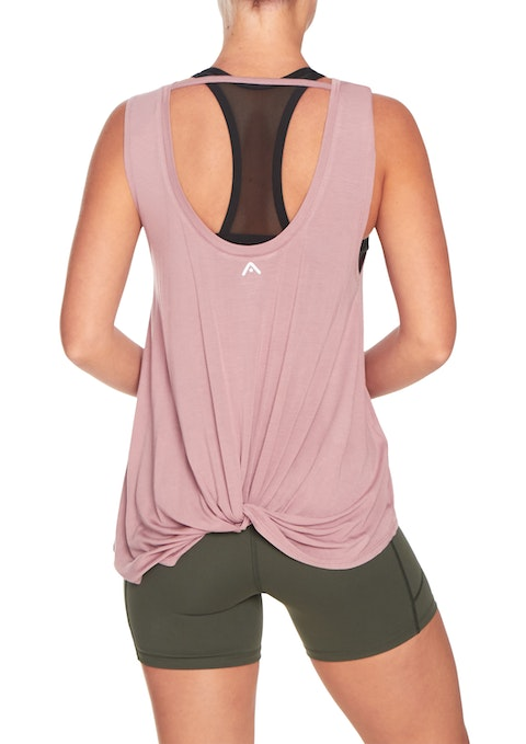 Rose Exhale Knot Back Tank