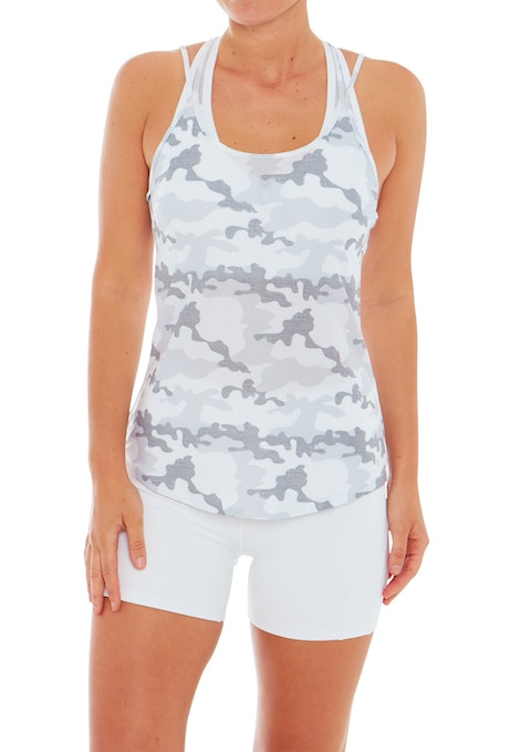 Camo Rise Strappy Active Singlet