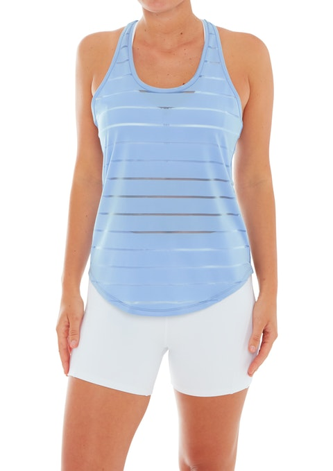 Bluebell Quest Stripe Mesh Active Singlet