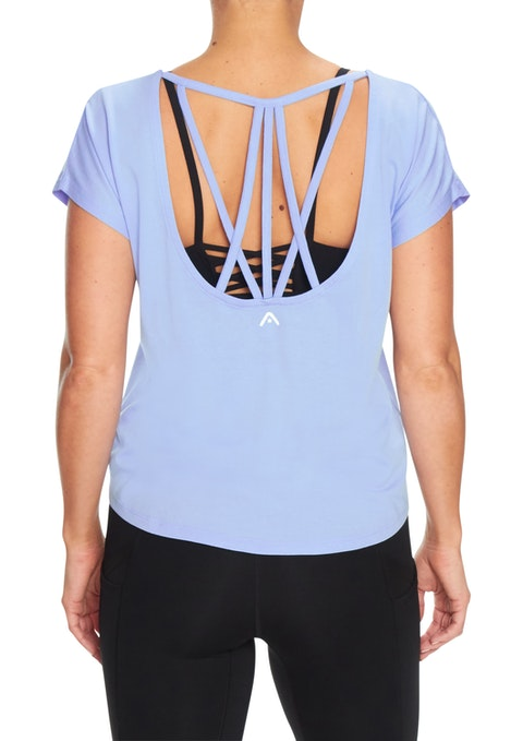 Bluebell Oasis Strappy Keyhole Back Tee