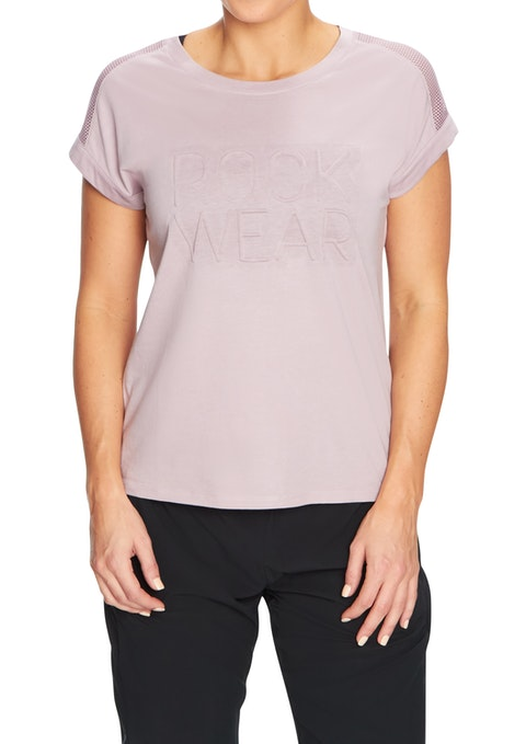 Orchid Logo Front Mesh Panel Tee