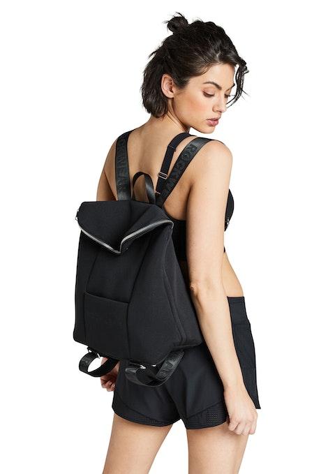 Black Logo Strap Backpack