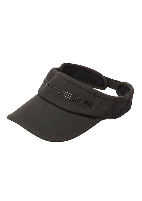 Black Textured Visor Hat