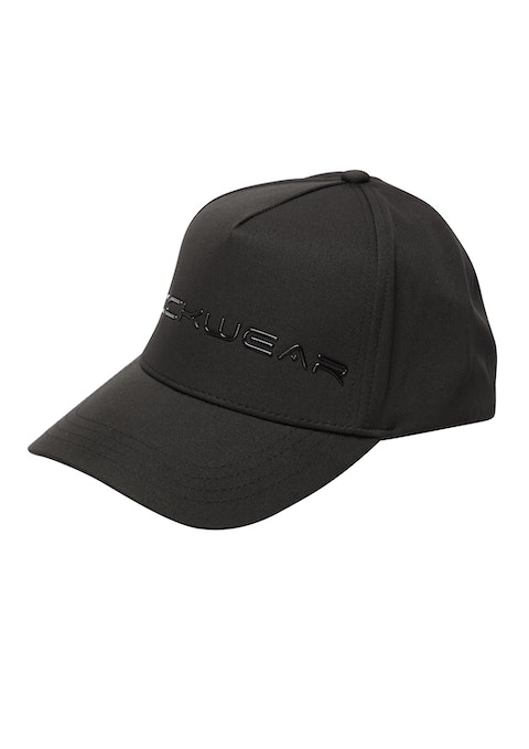 Black Perforated Logo Cap