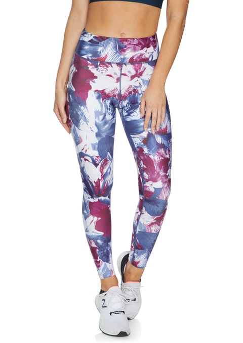 Berry Floral Squad Print Full Length Tights