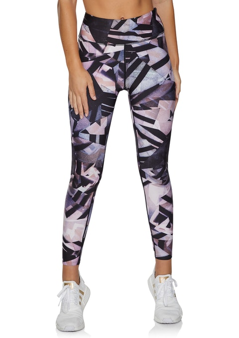 Stencil Squad Print Full Length Tights