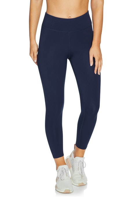 French Navy Squad Print Ankle Grazer Tights