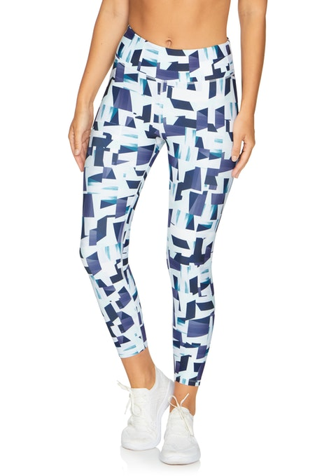 Geo Print Cool Touch Print Ankle Grazer Tights