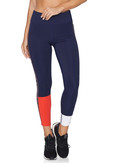French Navy Rewind Cool Touch Full Length Tights