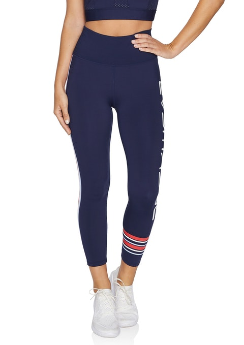 French Navy Rewind Ag Print Logo Tight