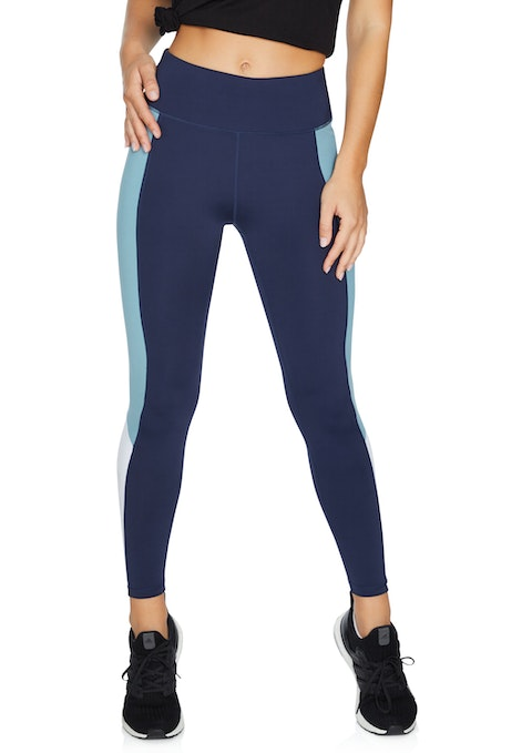 French Navy Cool Touch Rockwear Logo Full Length Tights