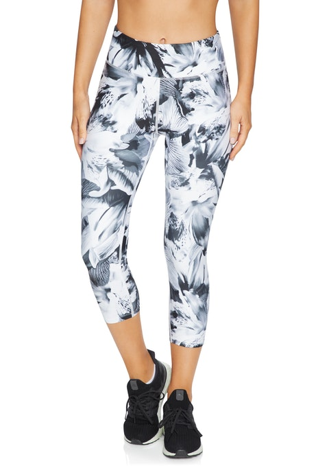 Mono Floral Squad 7/8 Print Tight