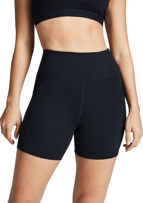 Black Mid Thigh Pocket Tight