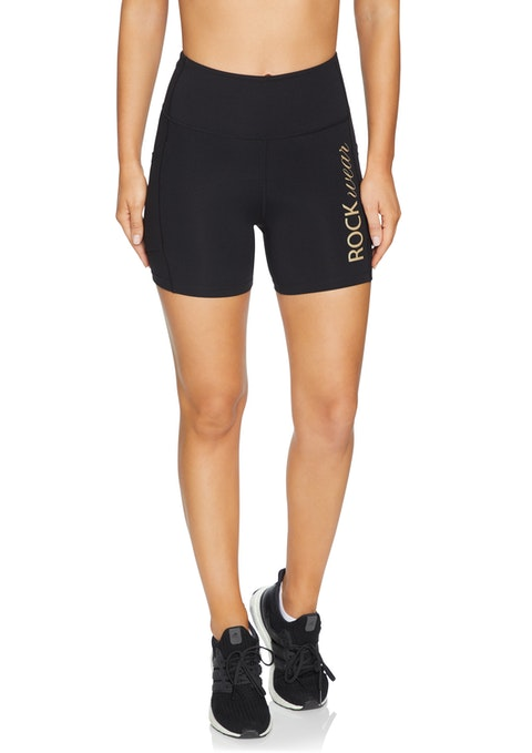 Black Shimmer Mid Thigh Pocket Tight