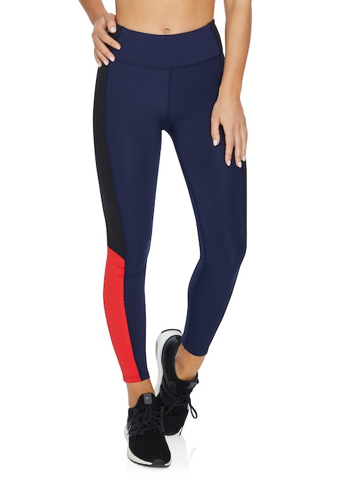 French Navy Fast Forward Colour Block Full Length Tights