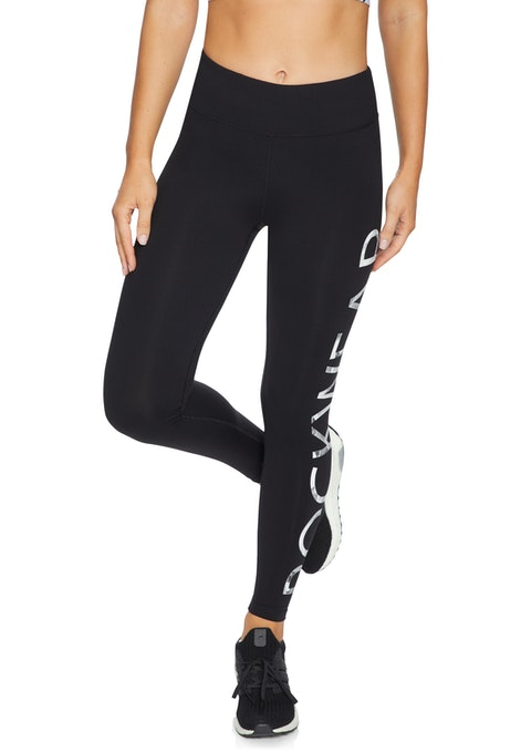 Black Squad Rockwear Logo Full Length Tights