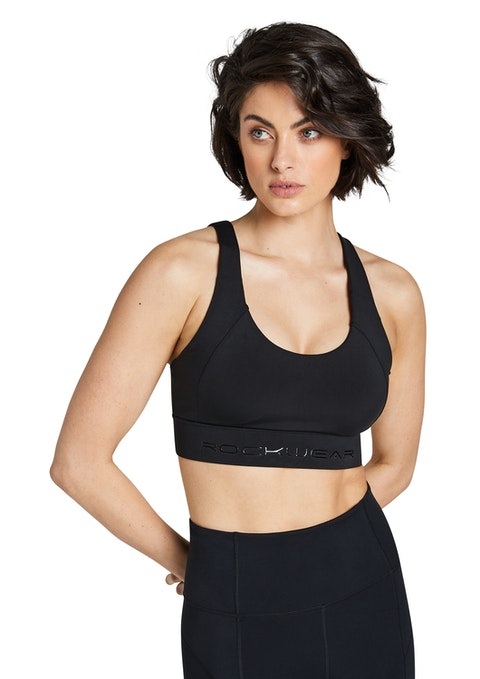 Black Zen High Impact Sports Bra